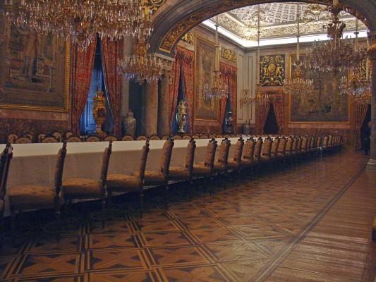 Madrid for Sala da pranzo reale